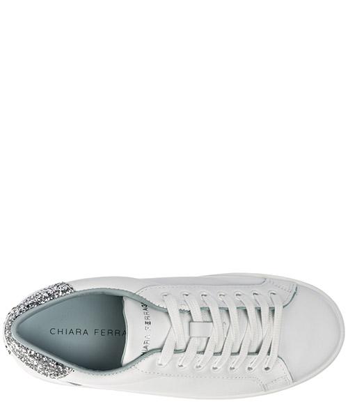 Chaussures baskets sneakers femme en cuir logomania secondary image
