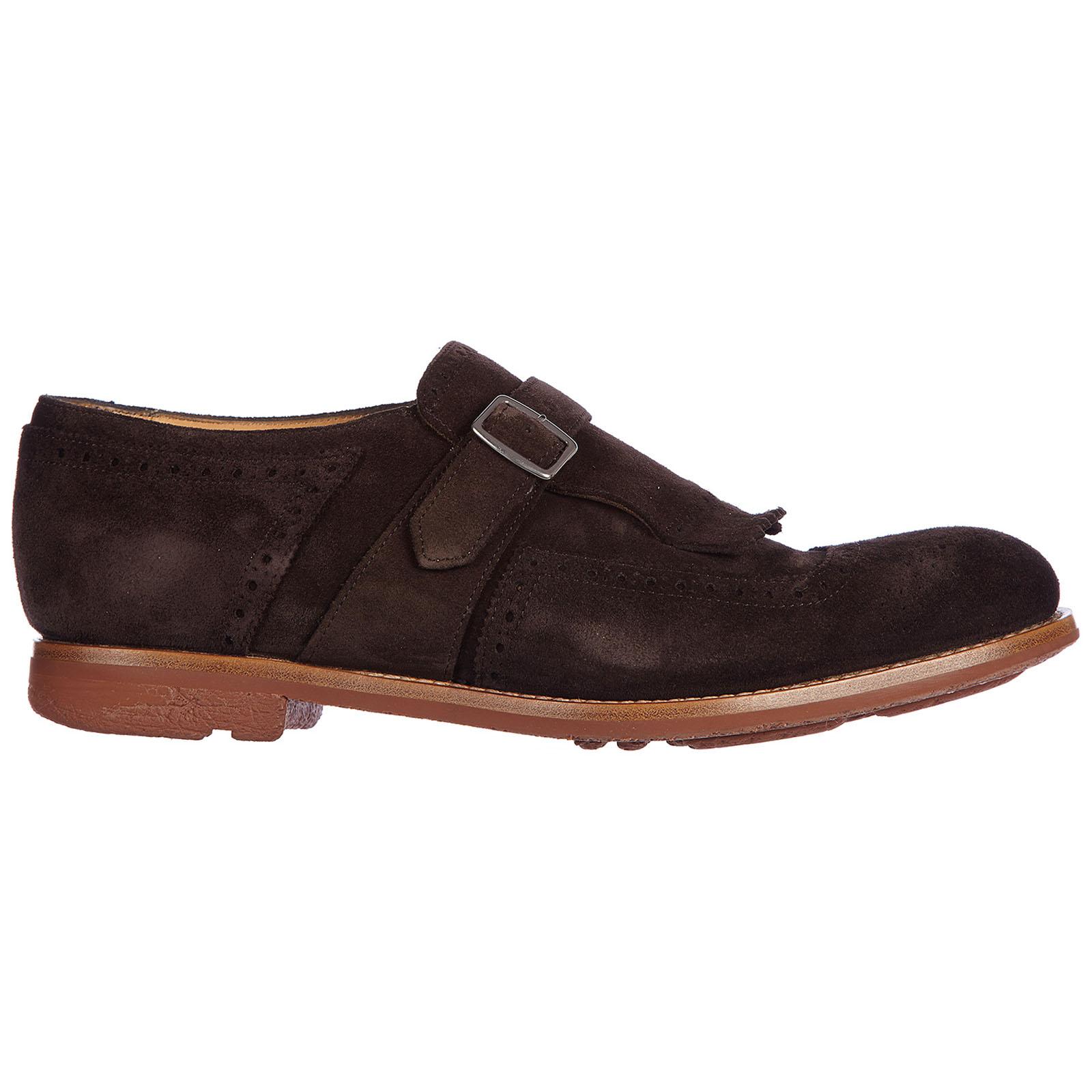 Scarpe classiche uomo camoscio monkstrap