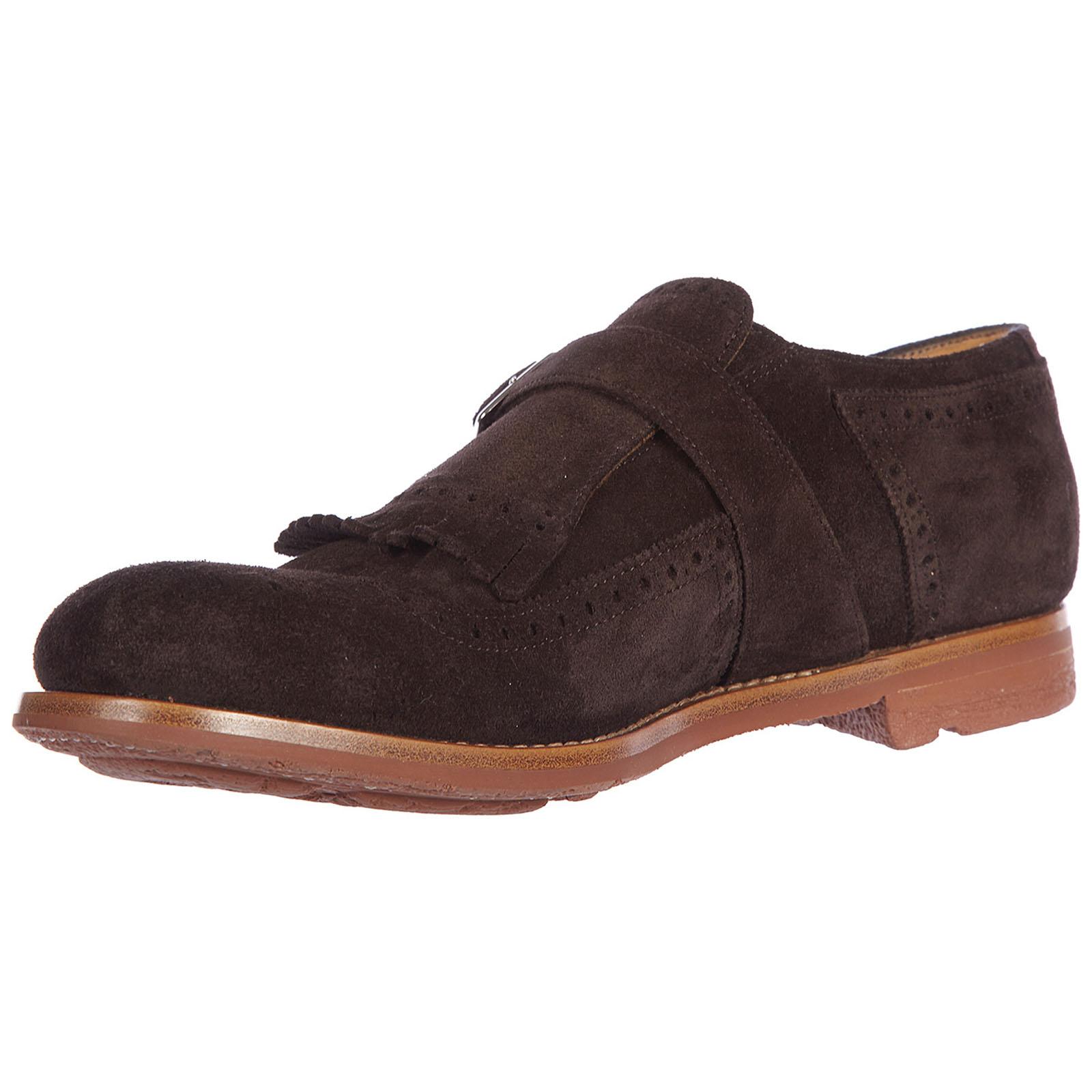 Men's classic suede formal shoes slip on monkstrap