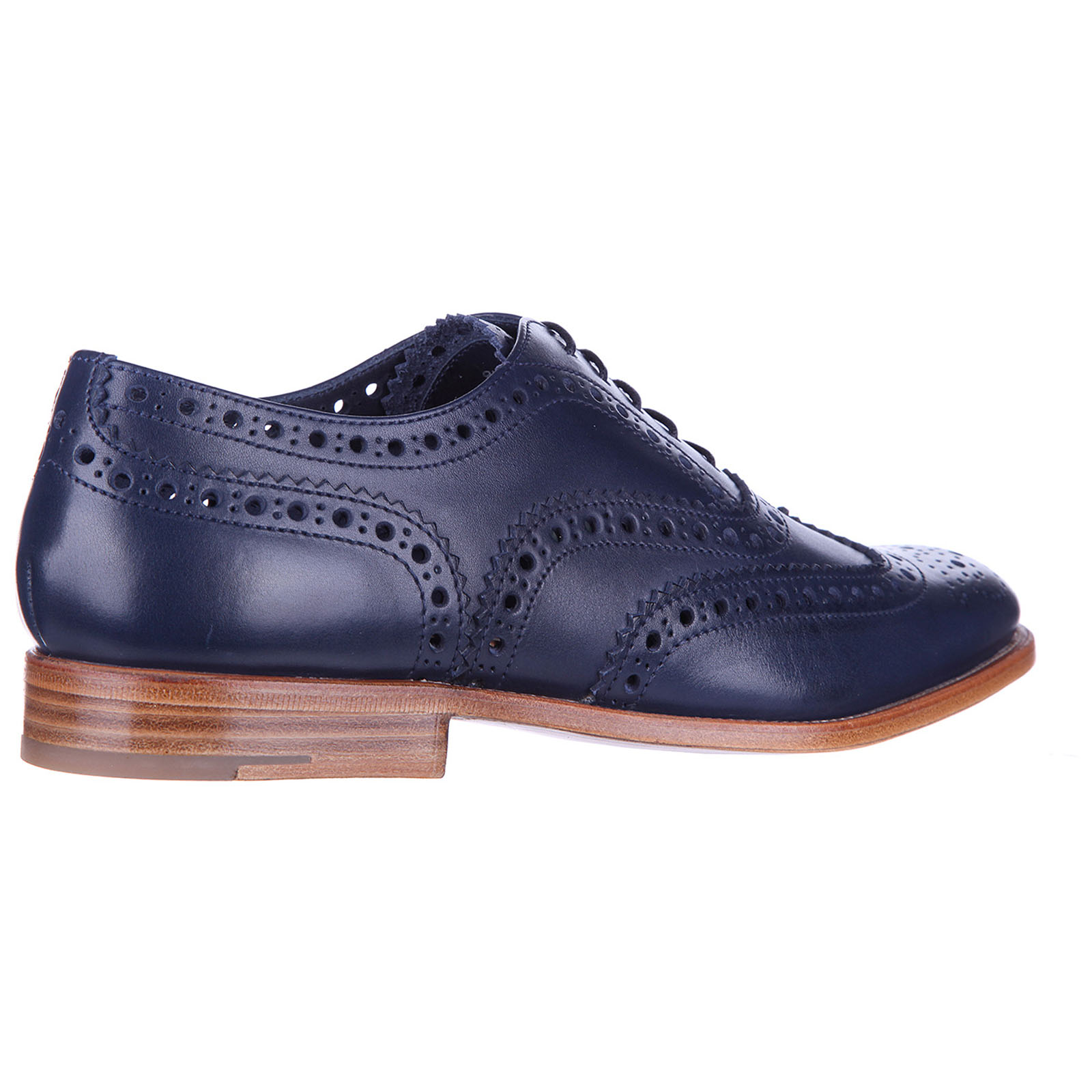 Women's classic leather lace up laced formal shoes burwood hole brogue