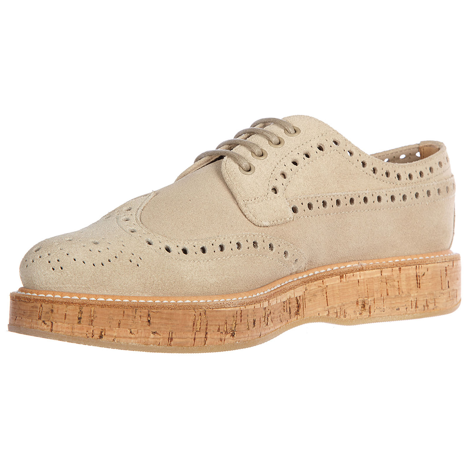 Women's classic suede lace up laced formal shoes derby soft castgold