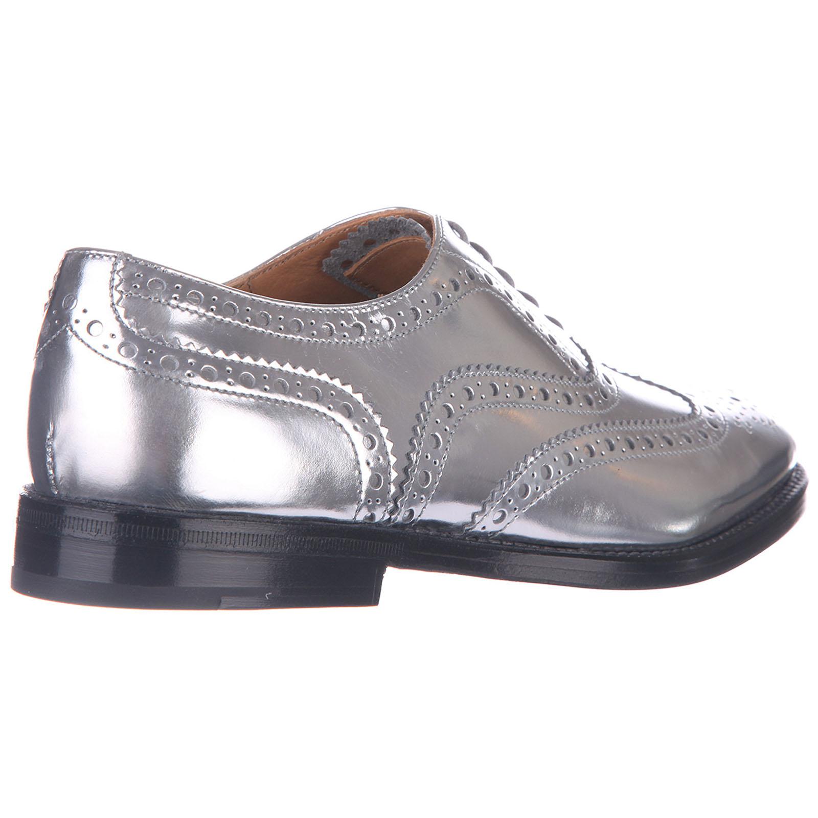Chaussures à lacets classiques femme en cuir mirror brogue burwood