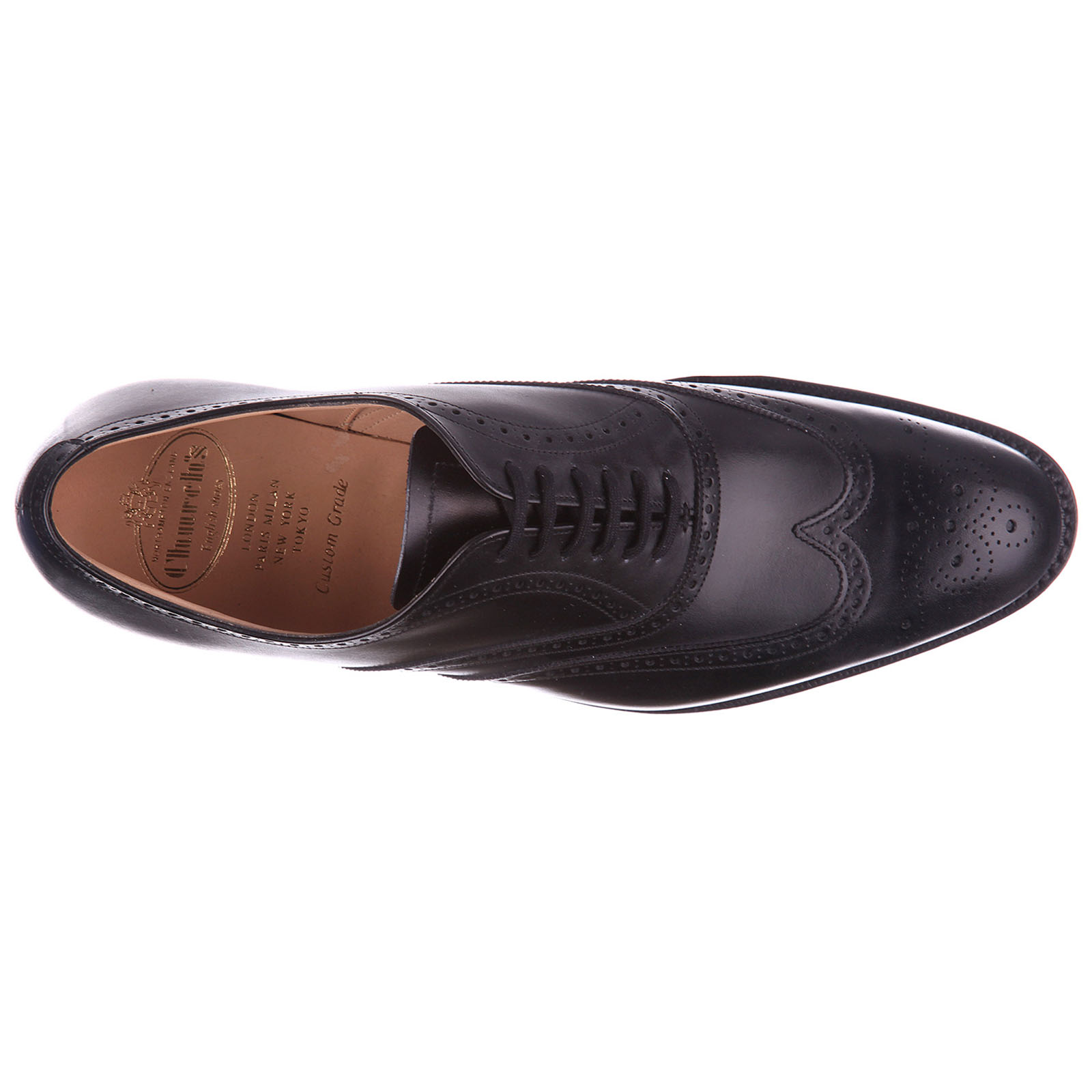 Men's classic leather lace up laced formal shoes brogue berlin