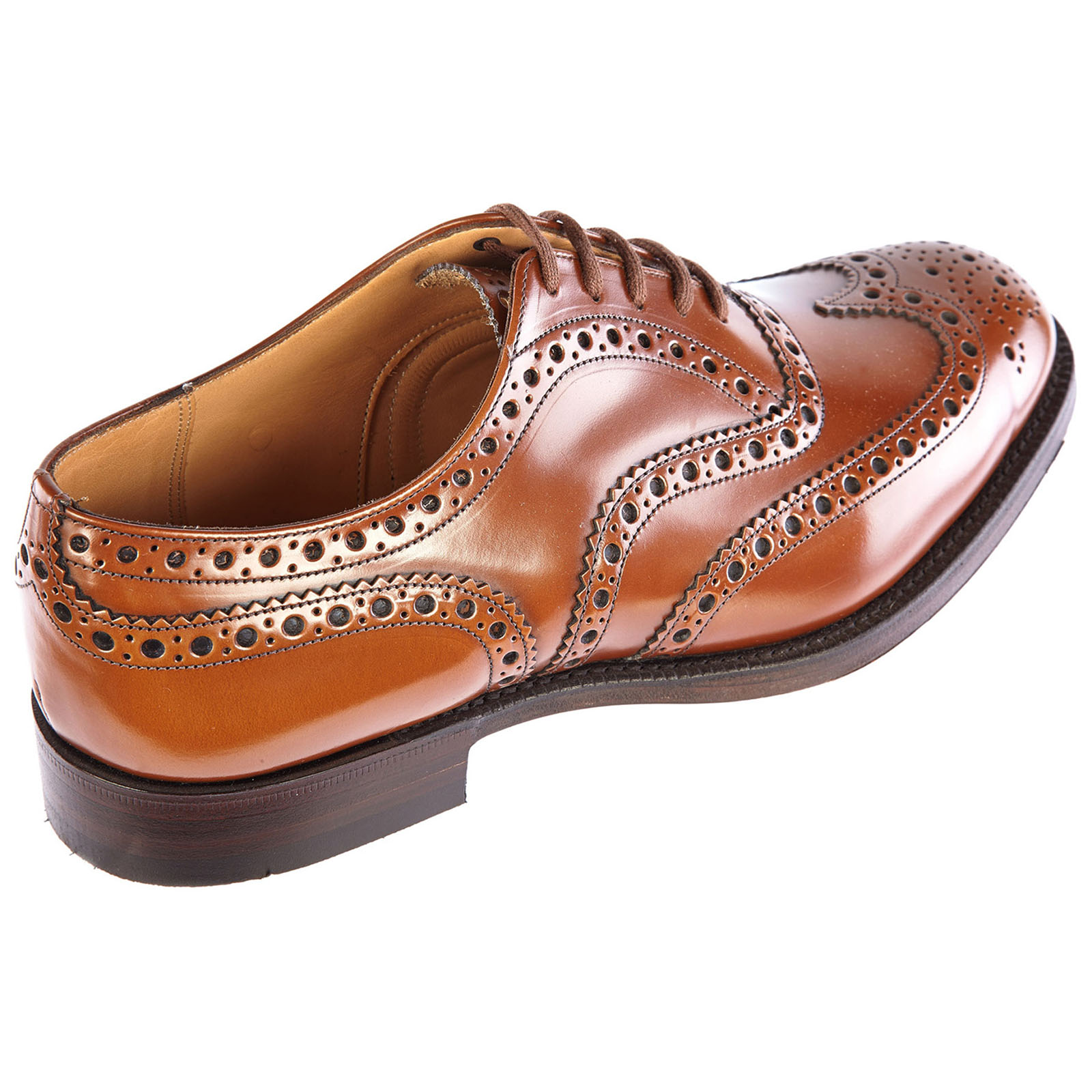Men's classic leather lace up laced formal shoes brogue