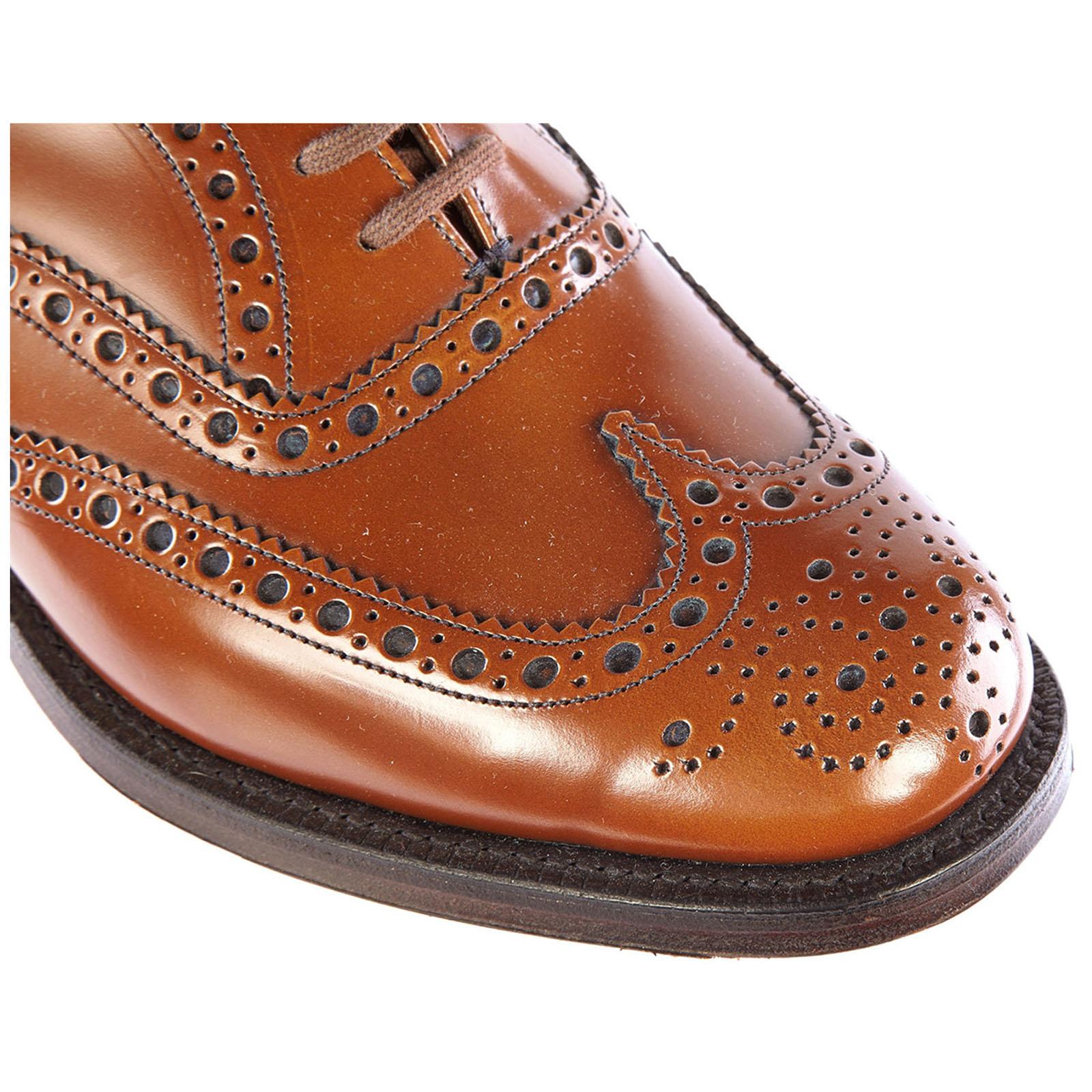 Clásico zapatos de cordones hombres en piel brogue