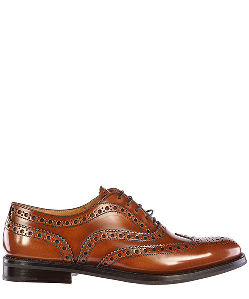 Hochhackige Oxfords Church's A73721 marrone