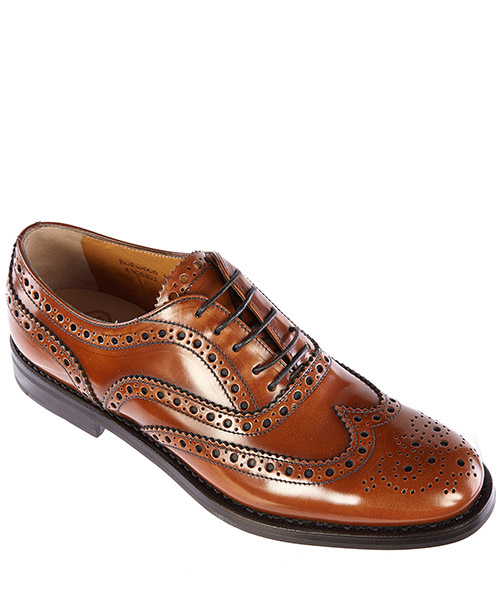 Women's classic leather lace up laced formal shoes burwood secondary image
