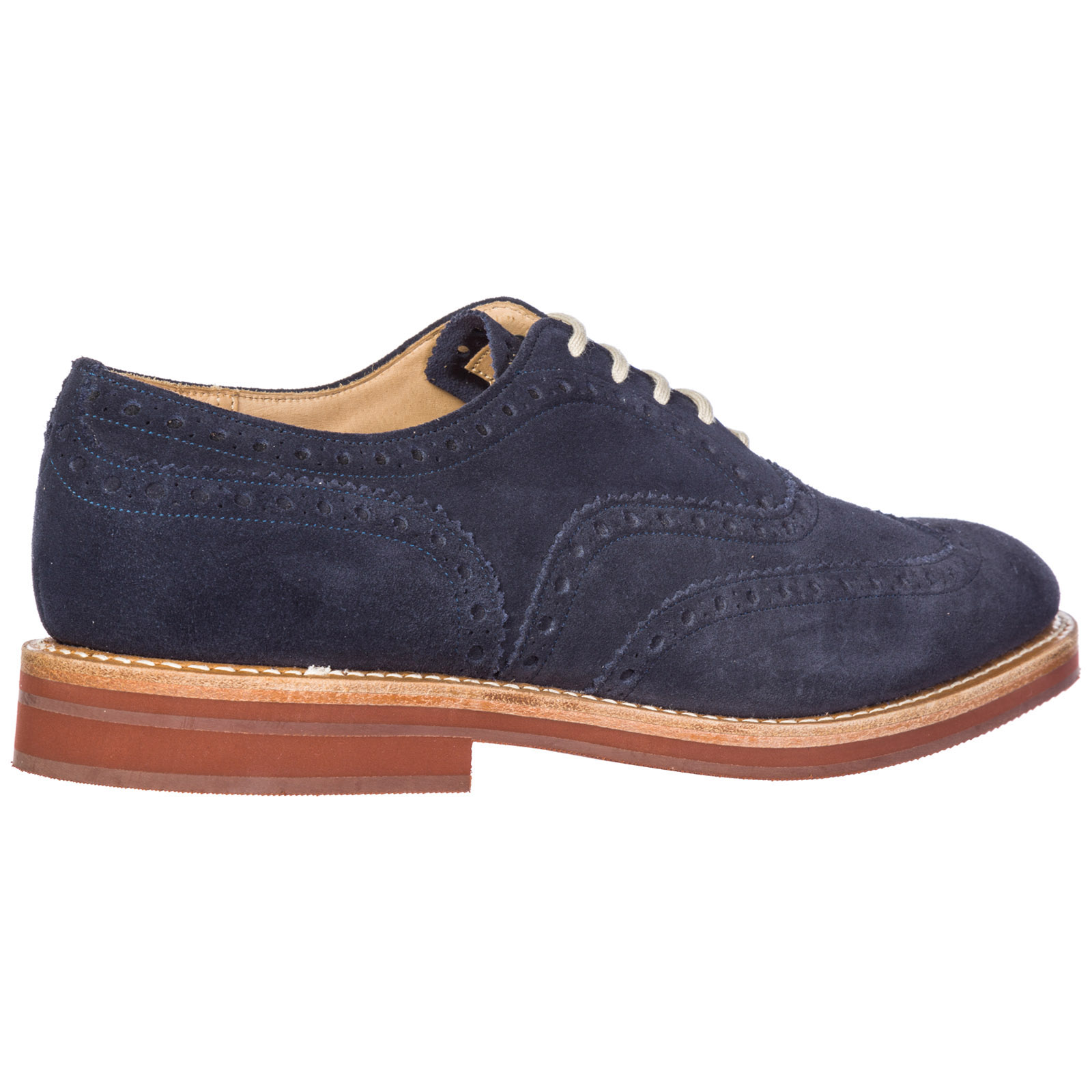 Men's classic suede lace up laced formal shoes downton