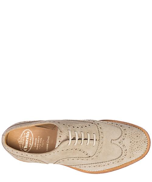 Clásico zapatos de cordones en ante hombres downton secondary image