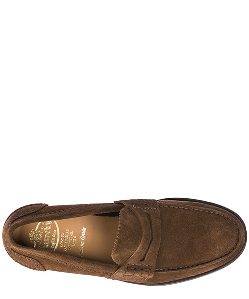 Men's suede loafers moccasins pembrey secondary image