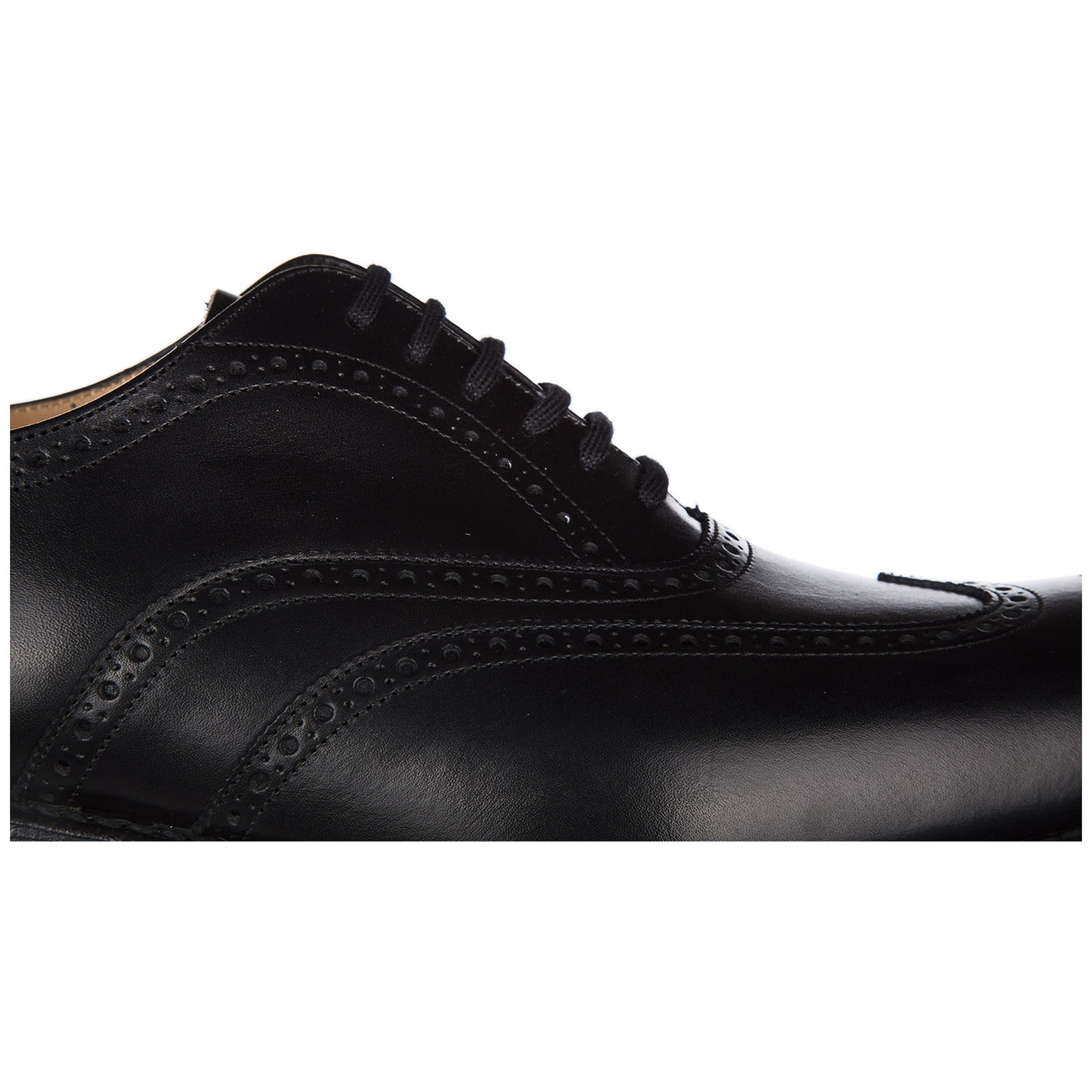 Men's classic leather lace up laced formal shoes berlin brogue