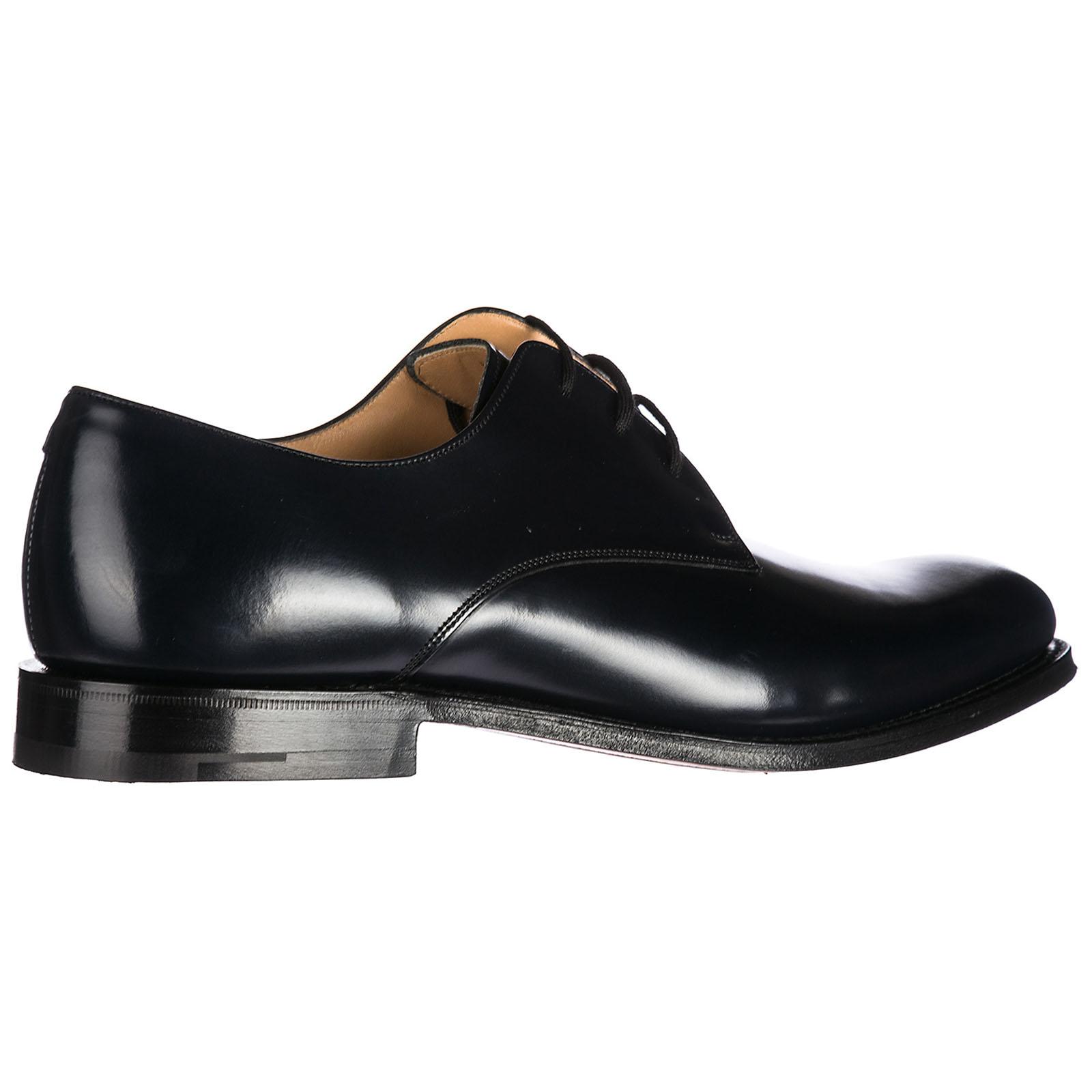 Church's clásico zapatos de cordones en ante hombres nuevo orby blu EU 42 6226 39 ZIxE637