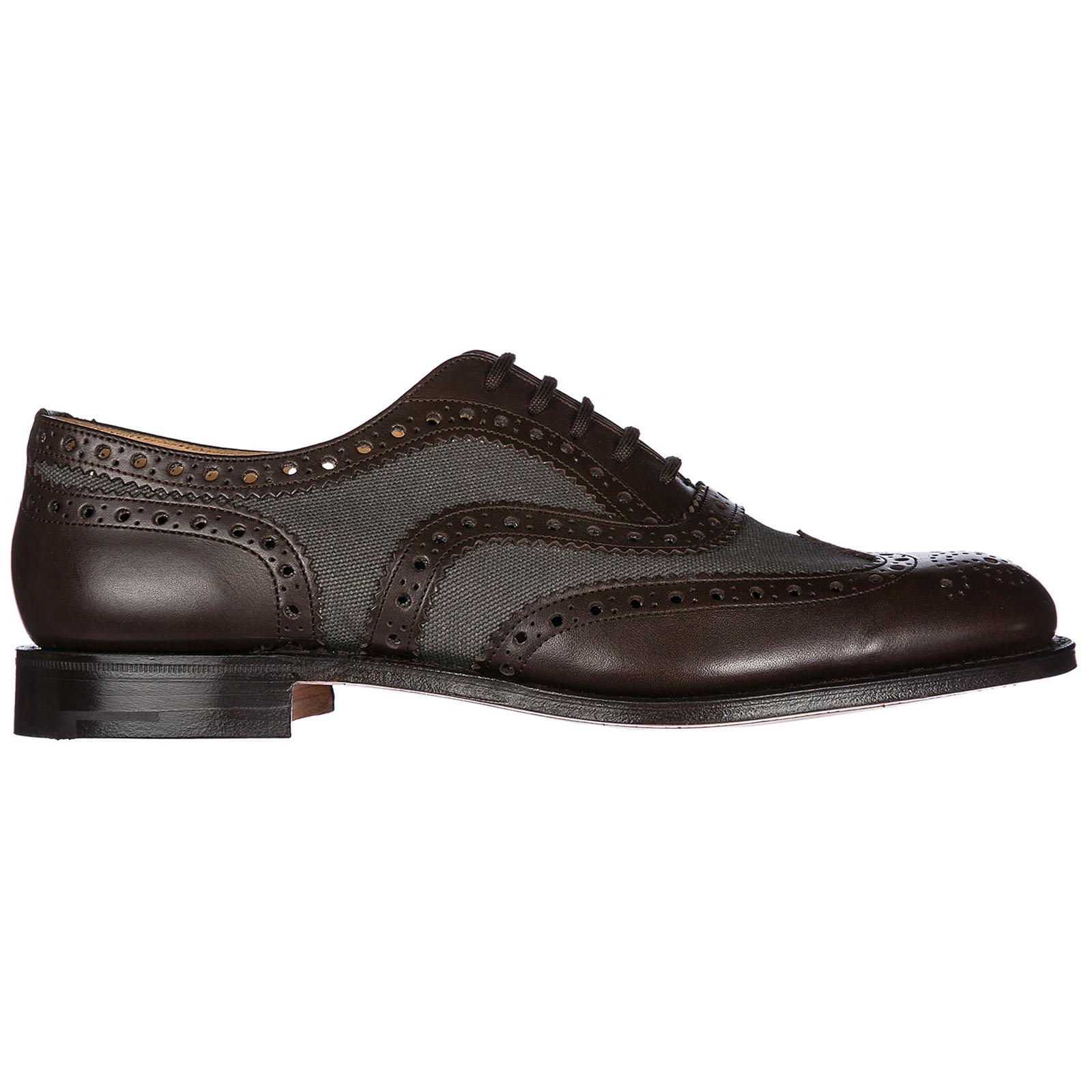 Herrenschuhe Leder Herren Business Schuhe Schnürschuhe Burwood Brogue, Brown