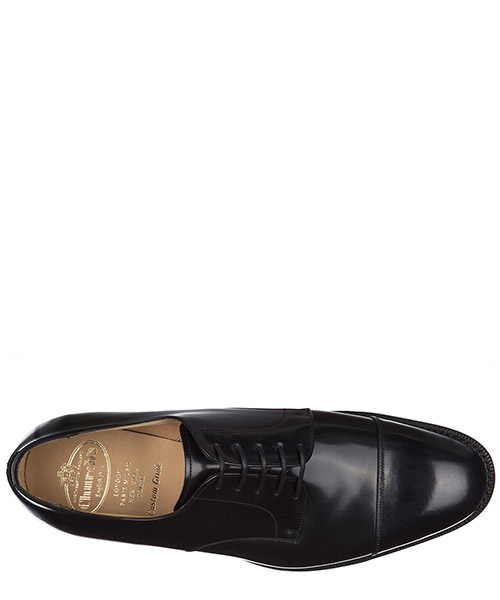 Men's classic leather lace up laced formal shoes cartmel 173 derby secondary image