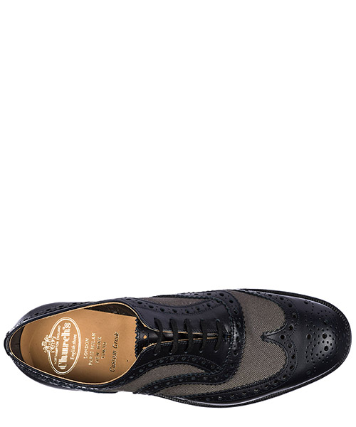 Men's classic leather lace up laced formal shoes burwood brogue secondary image