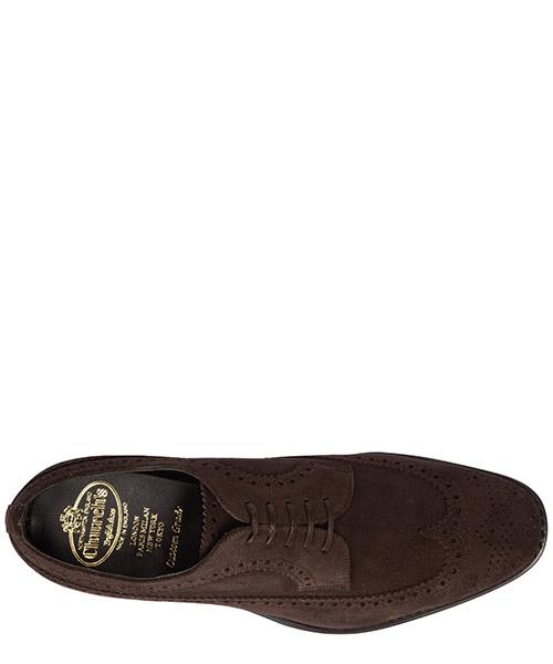 Clásico zapatos de cordones en ante hombres derby brogue portmore secondary image