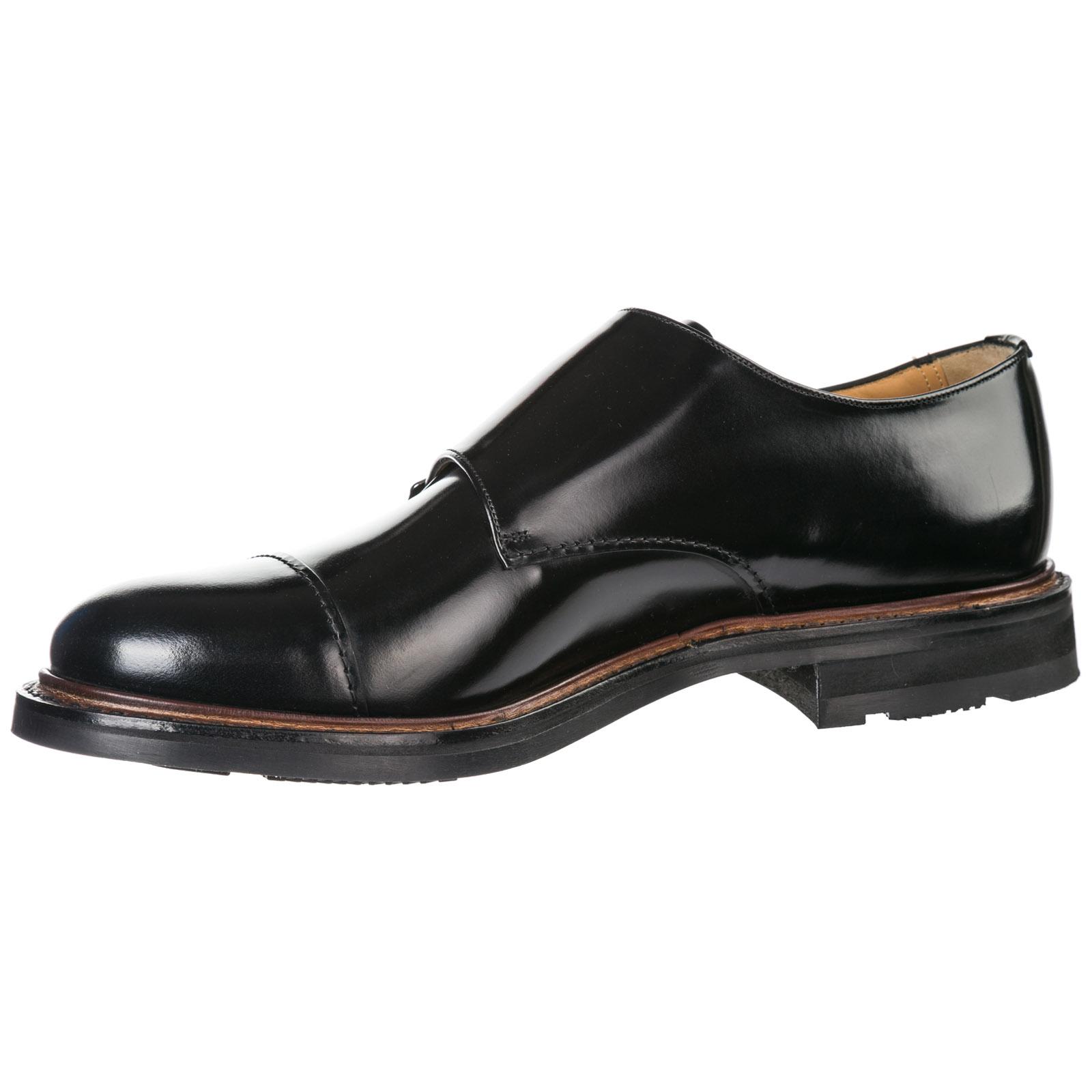 Men's classic leather formal shoes slip on monk strap wadebridge