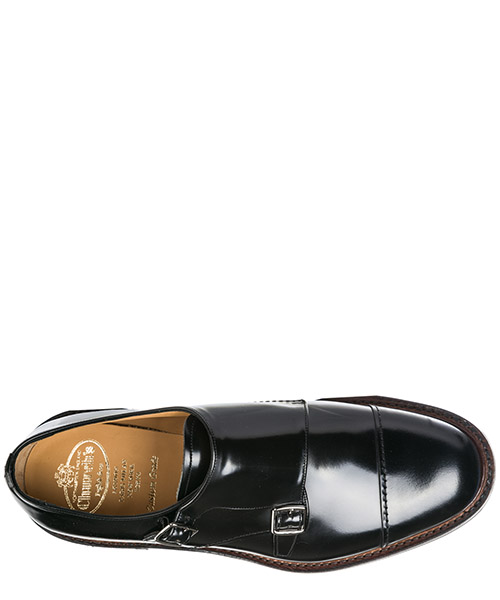 Herren leder formal business slipper schuhe monk strap wadebridge secondary image