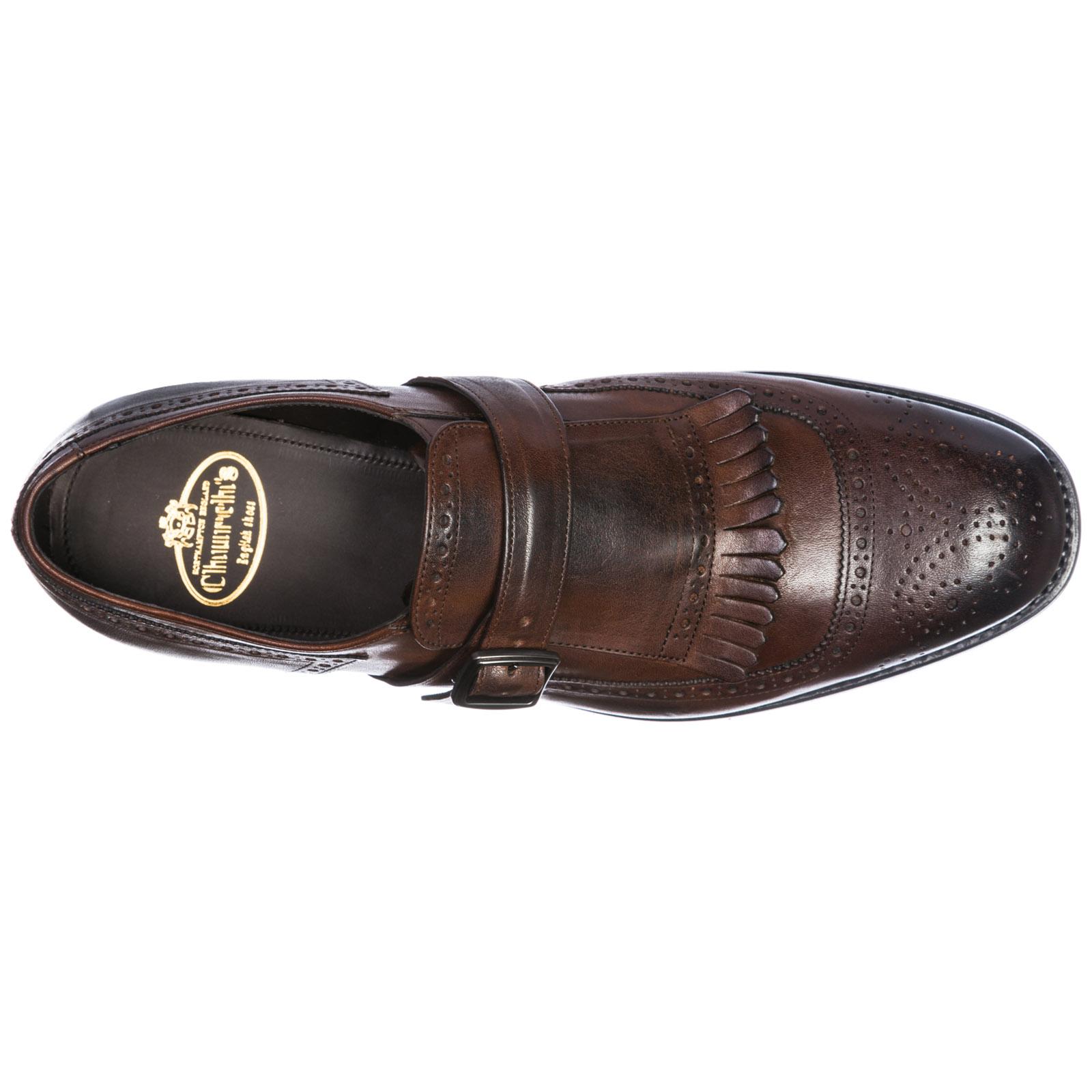 Men's classic leather formal shoes slip on monkstrap