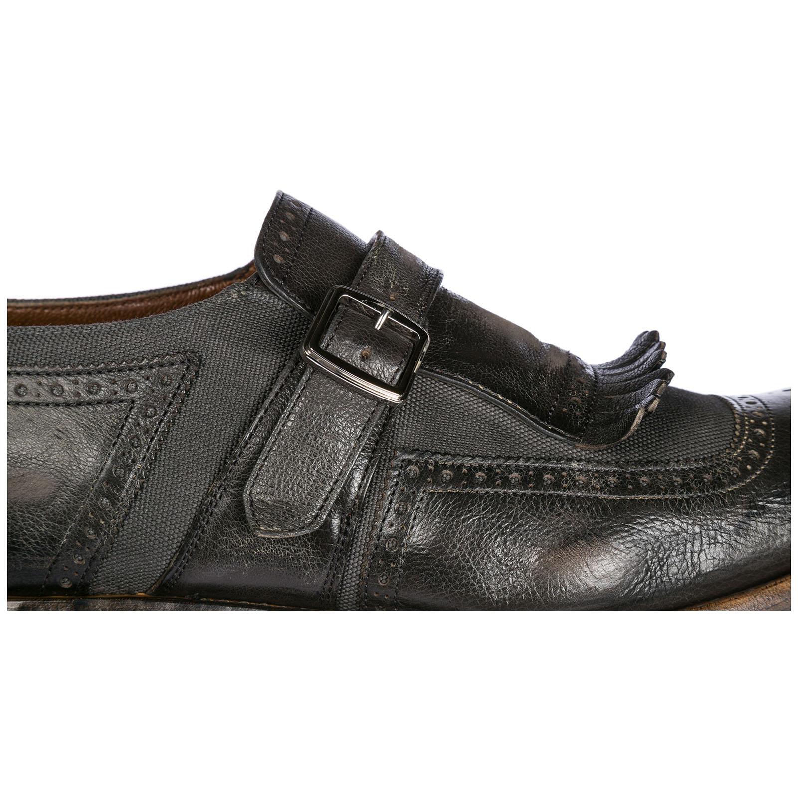 da97b8fff18 ... Men s classic leather formal shoes slip on monkstrap