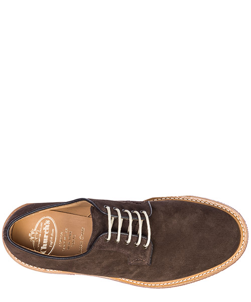 Men's classic suede lace up laced formal shoes derby fuelbeck secondary image