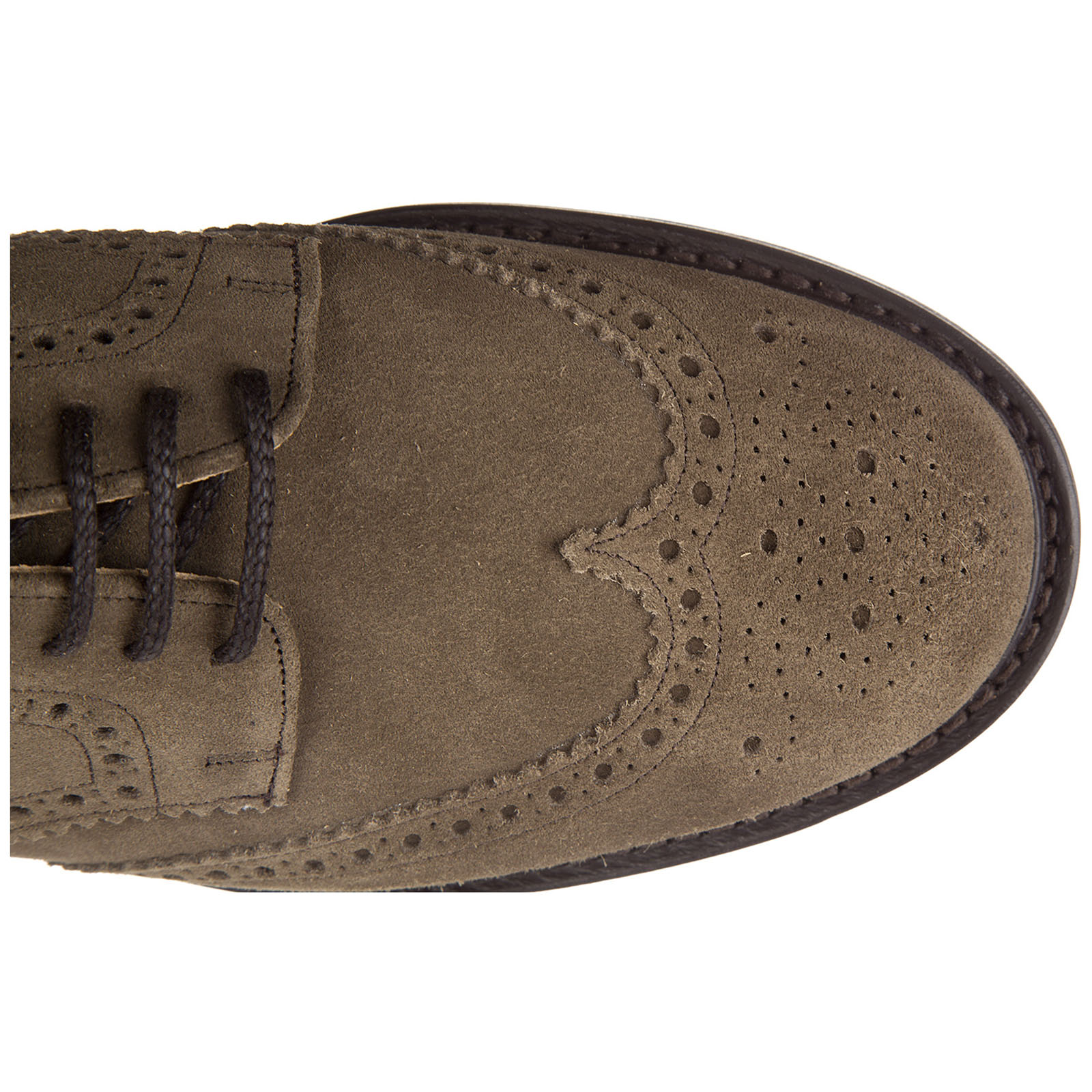 Men's classic suede lace up laced formal shoes newark brogue