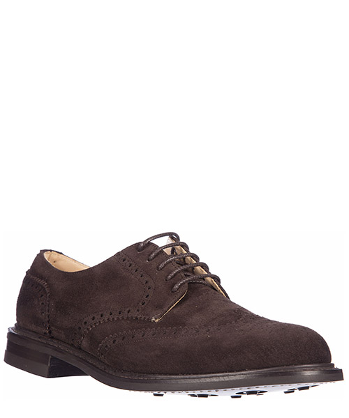 Men's classic suede lace up laced formal shoes derby new ark castoro secondary image