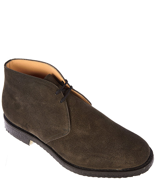 Men's suede desert boots lace up ankle boots ryder secondary image
