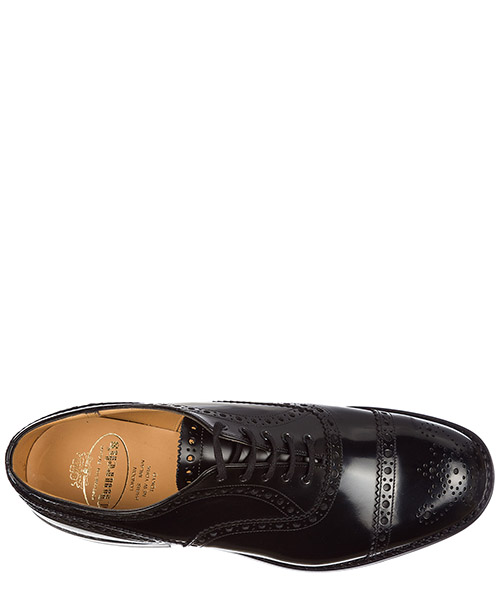Men's classic leather lace up laced formal shoes brogue scalford secondary image