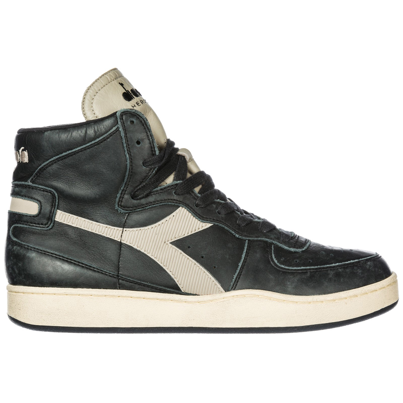 aecfbafd4fbd Diadora Heritage Men s shoes high top leather trainers sneakers mi basket