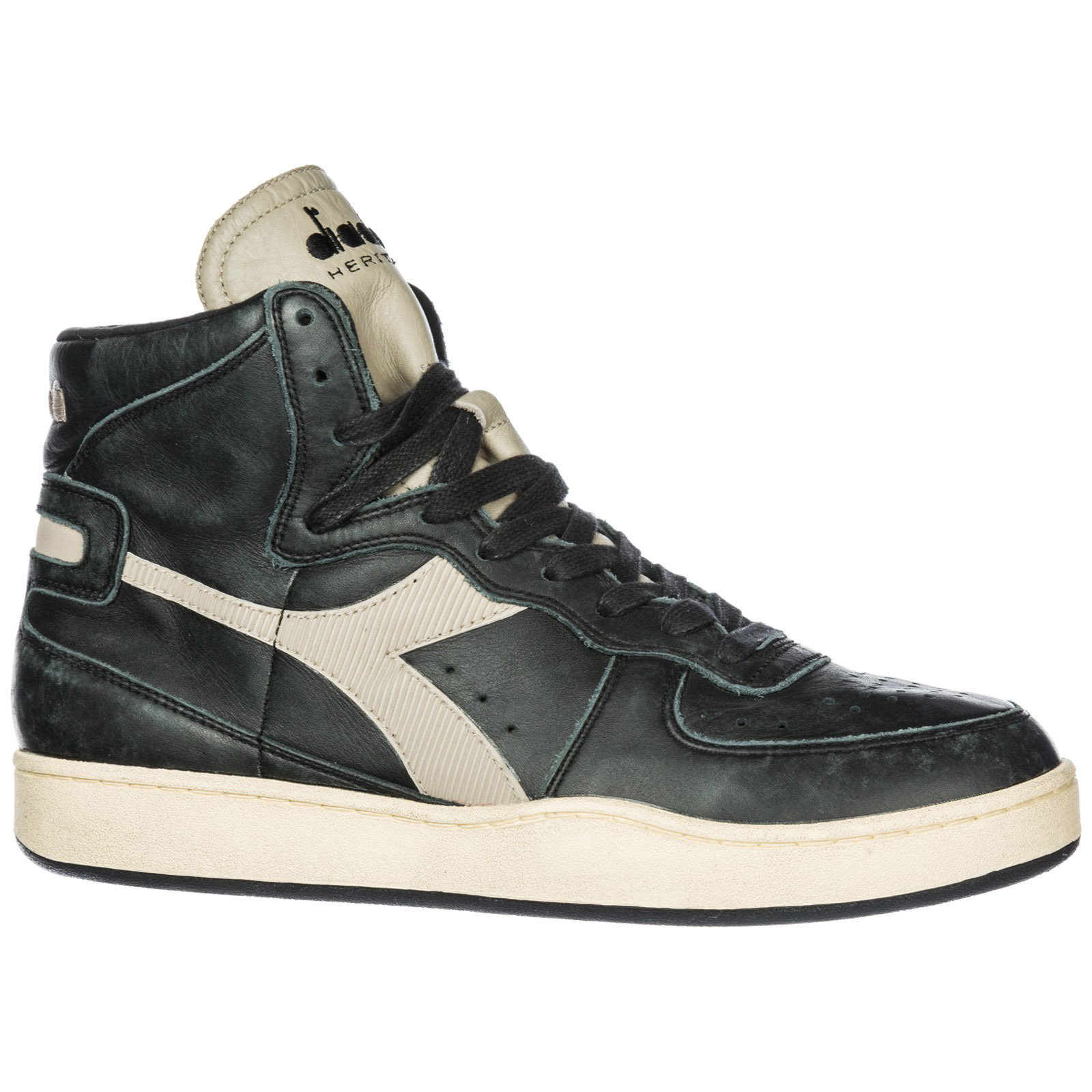 Diadora Heritage Men s shoes high top leather trainers sneakers mi basket ff4e35396e4