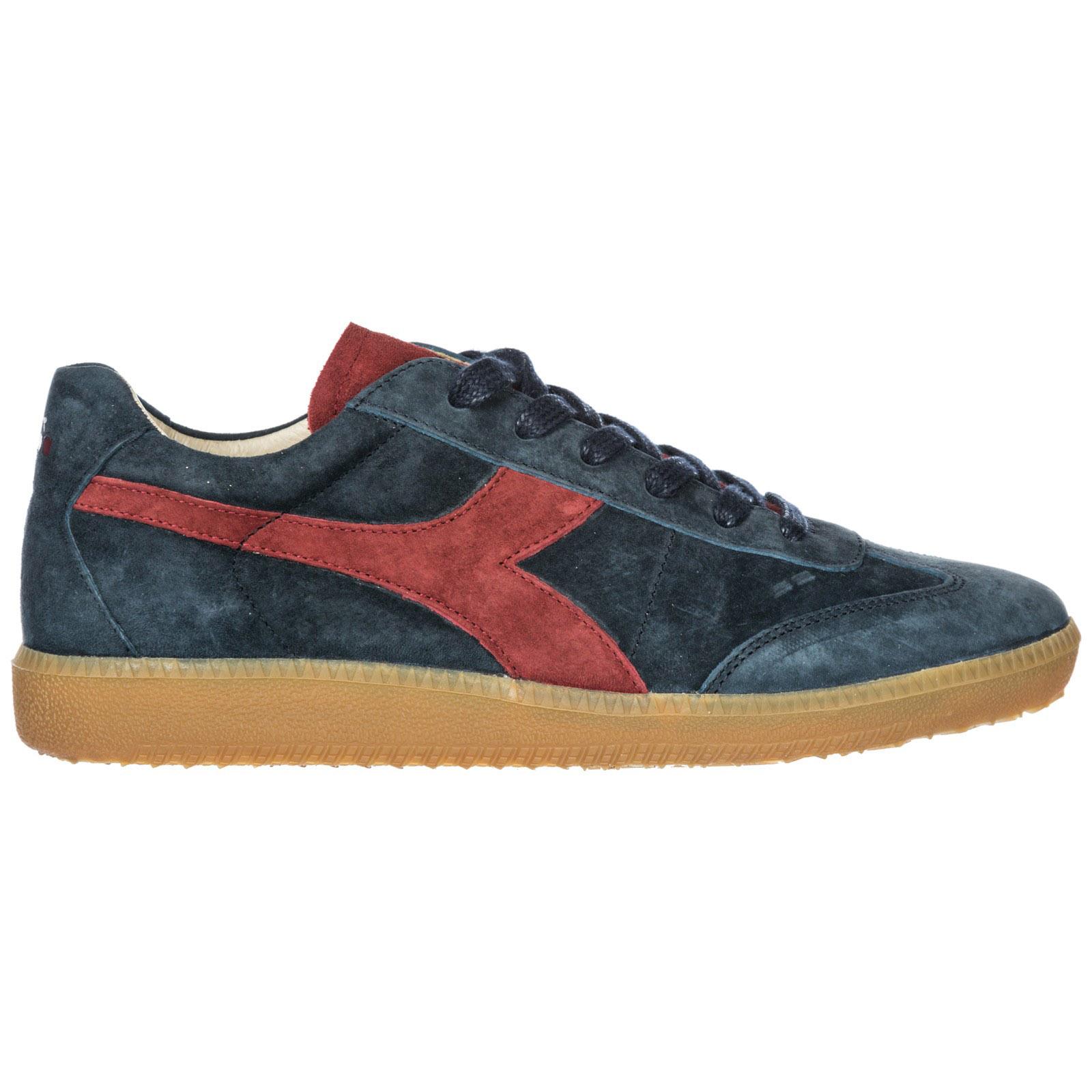 DIADORA Herrenschuhe Herren Wildleder Sneakers Schuhe Football 80 S Core 3 Evo in Blue