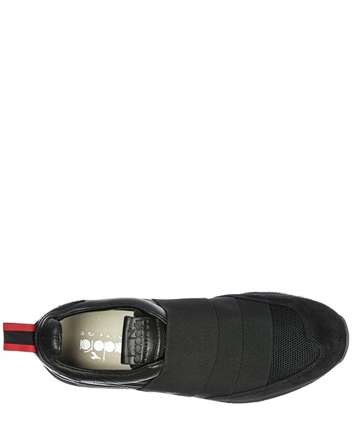 Slip on homme en cuir sneakers  n9000 h secondary image