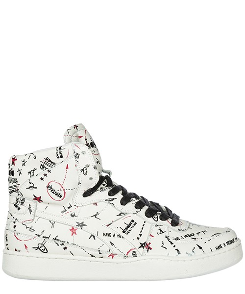 Men's shoes high top leather trainers sneakers mi basket biro