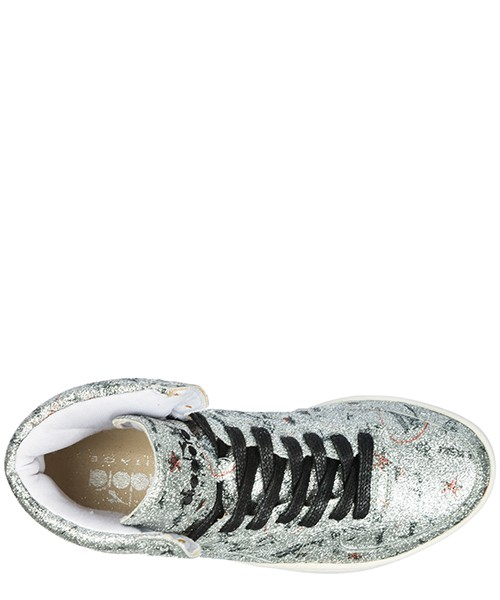 Scarpe sneakers alte donna in pelle mi basket biro secondary image