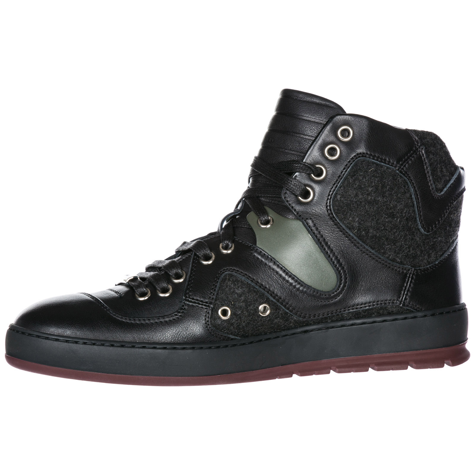 Scarpe sneakers alte uomo in pelle b19