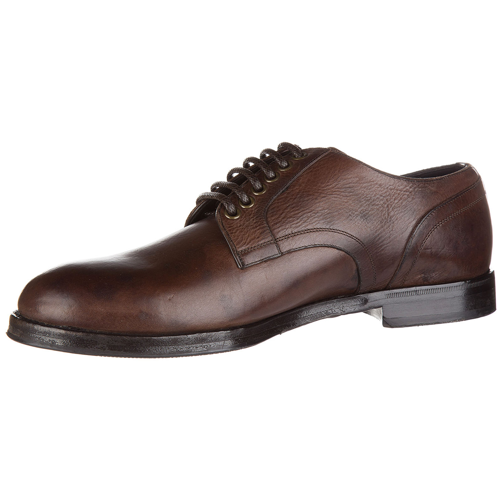 Men's classic leather lace up laced formal shoes derby giorgione stone wash