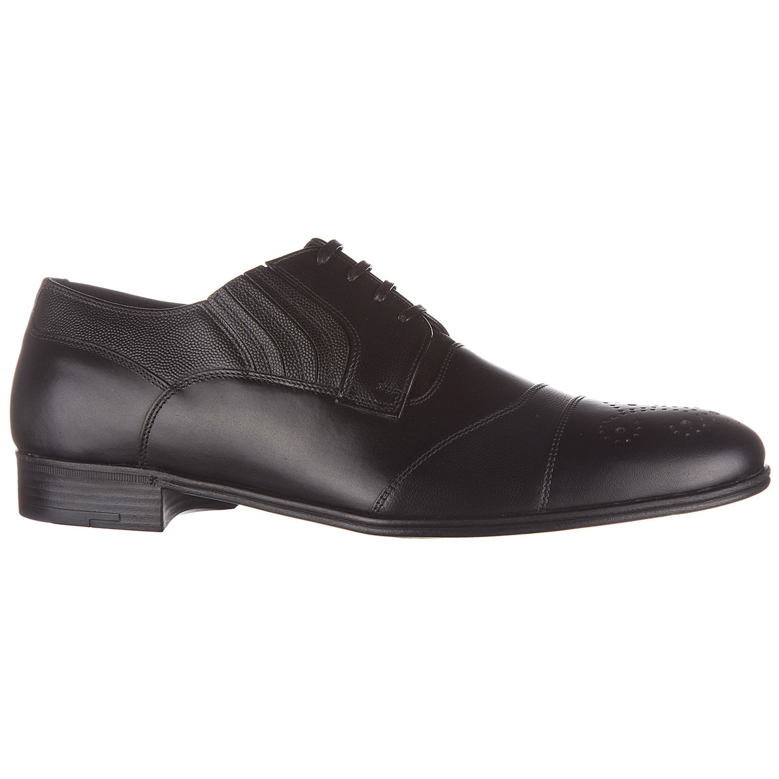 Men's classic leather lace up laced formal shoes derby carracci