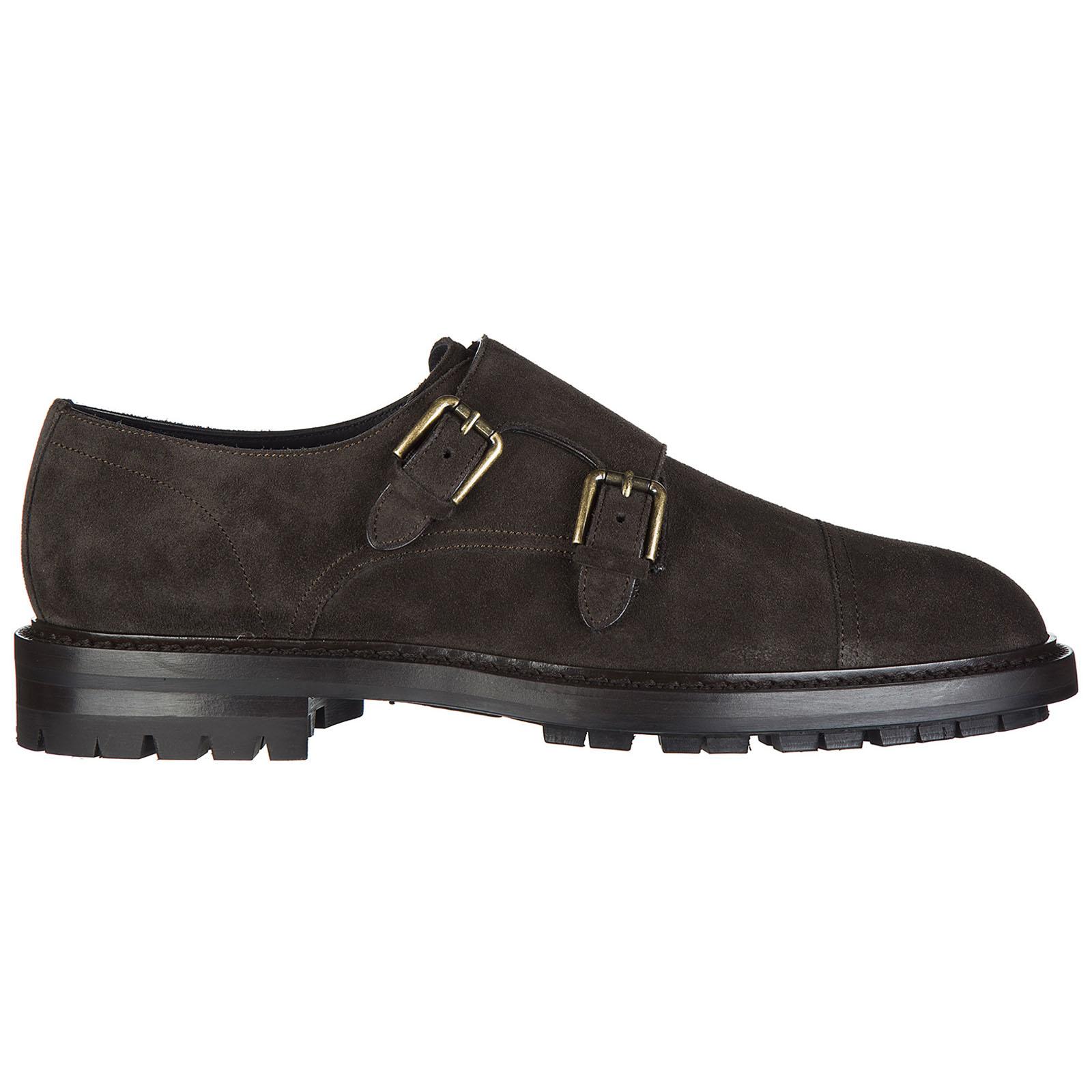 Clásico zapatos en ante hombres marsala