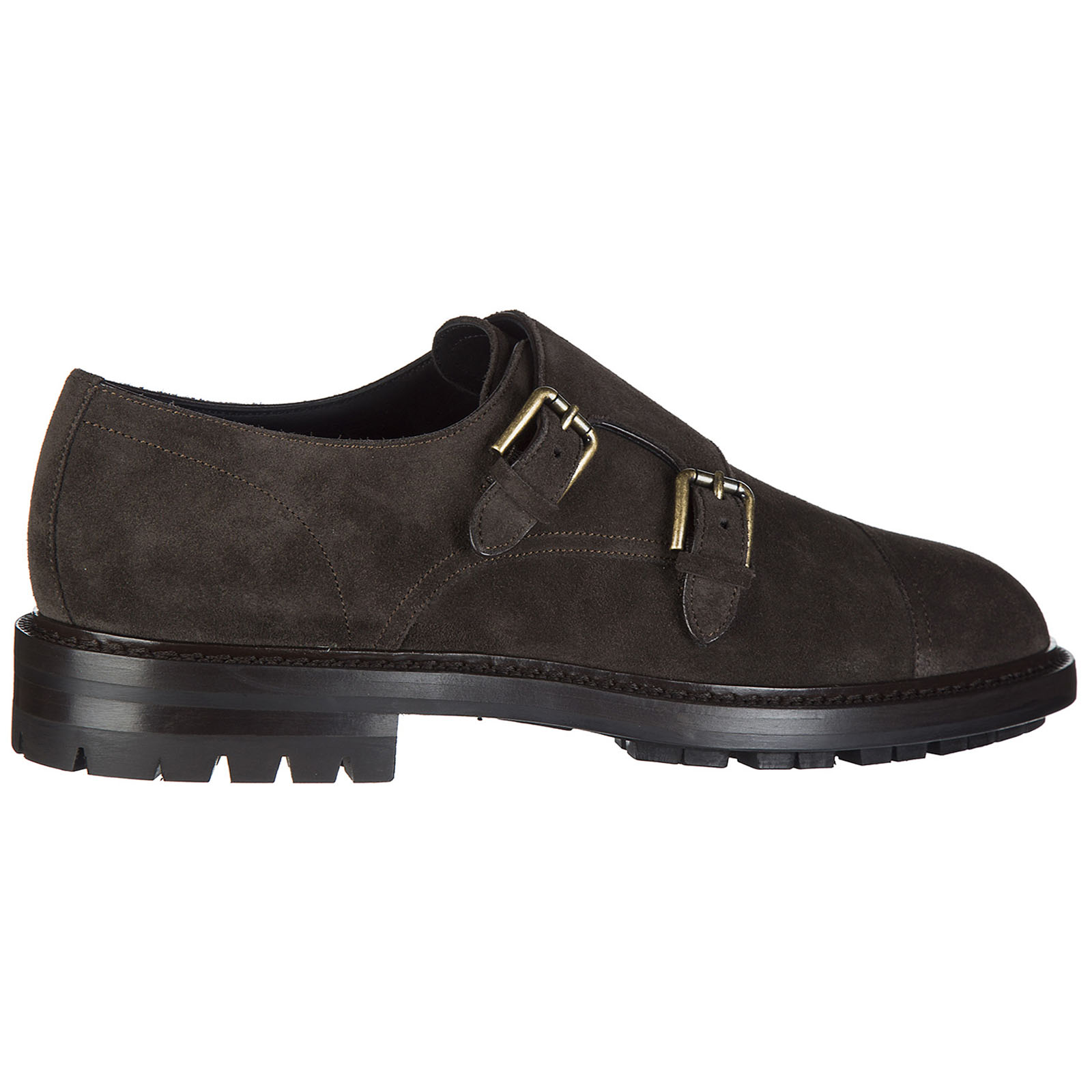 Men's classic suede formal shoes slip on marsala
