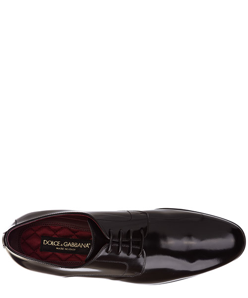 Men's classic leather lace up laced formal shoes positano derby secondary image