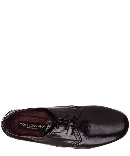 Men's classic leather lace up laced formal shoes derby secondary image