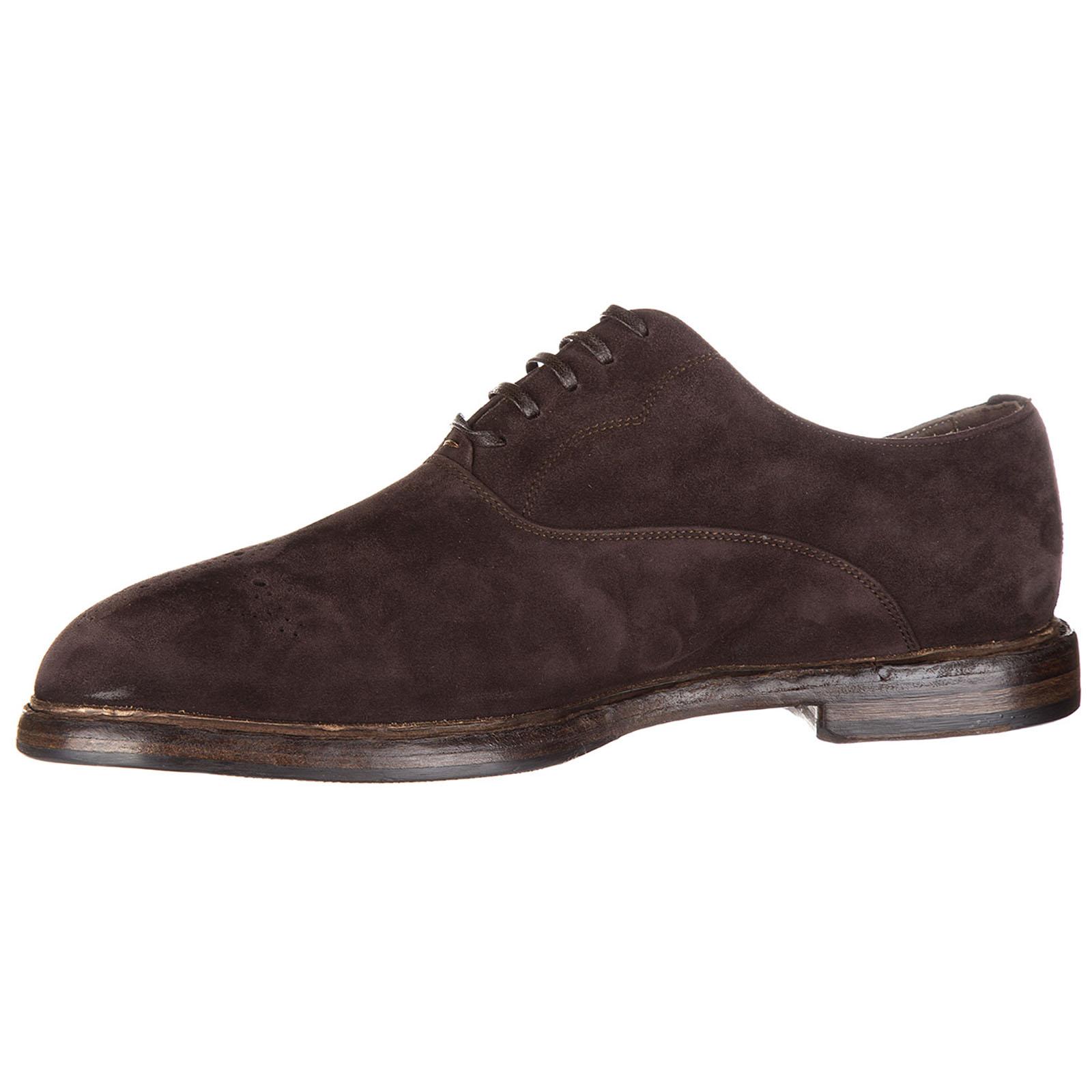 Clásico zapatos de cordones en ante hombres francesina washcoo