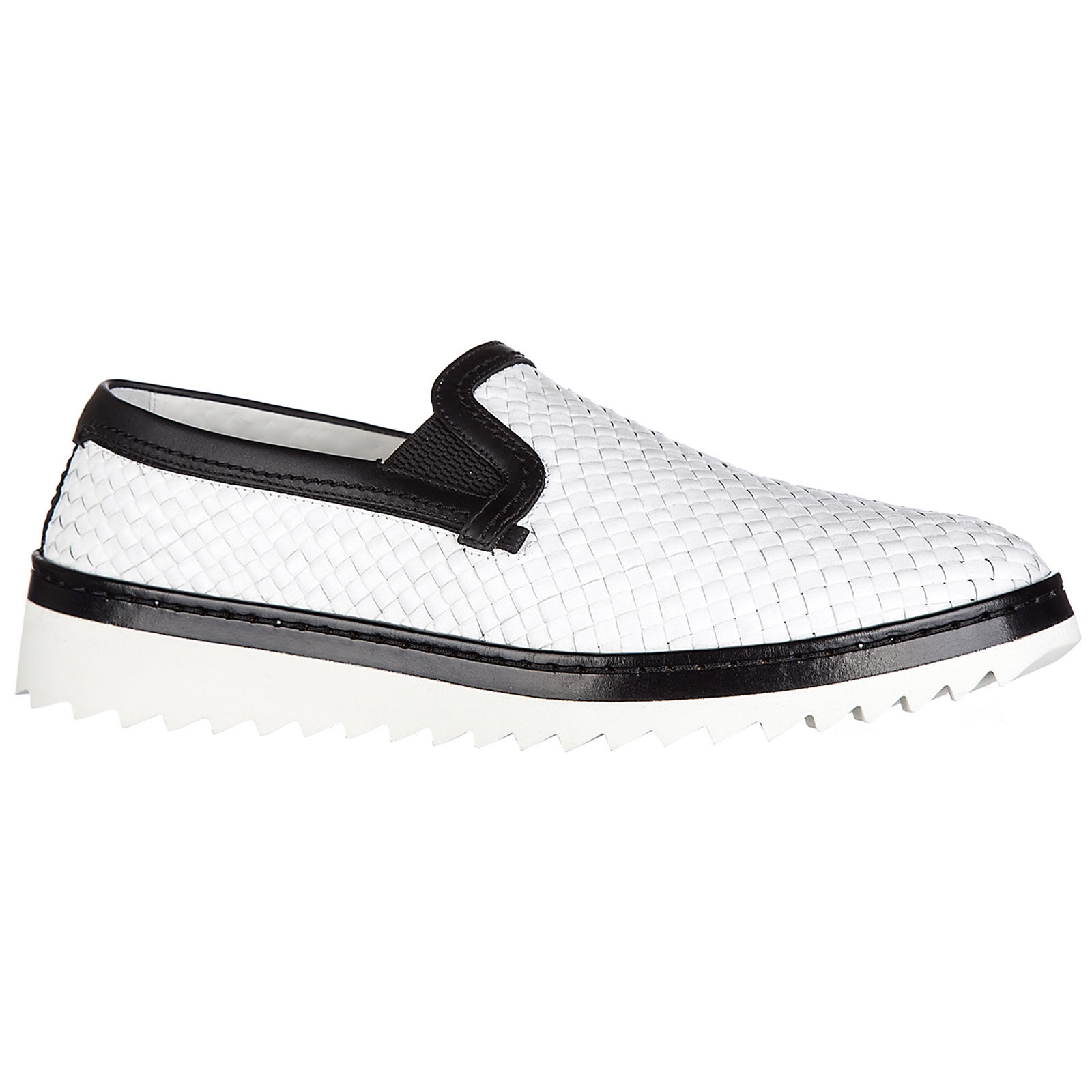 Men's leather slip on sneakers
