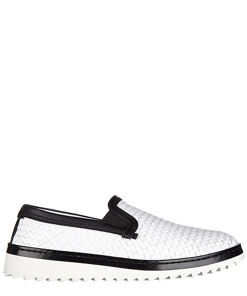 Slip on shoes Dolce&Gabbana A50078AB59389697 bianco nero