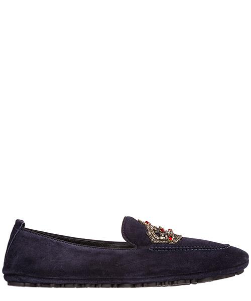 Moccasins Dolce&Gabbana King A50280AK30287741 blu scurissimo