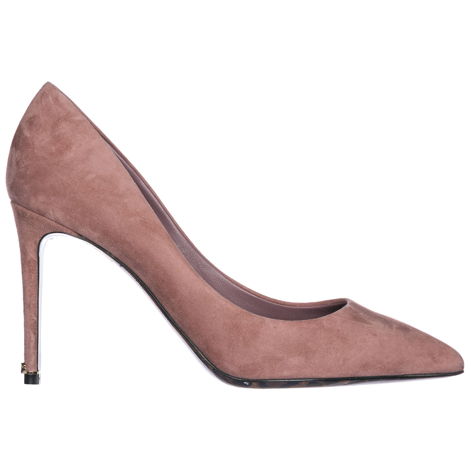Decolletes decoltè scarpe donna con tacco camoscio kate