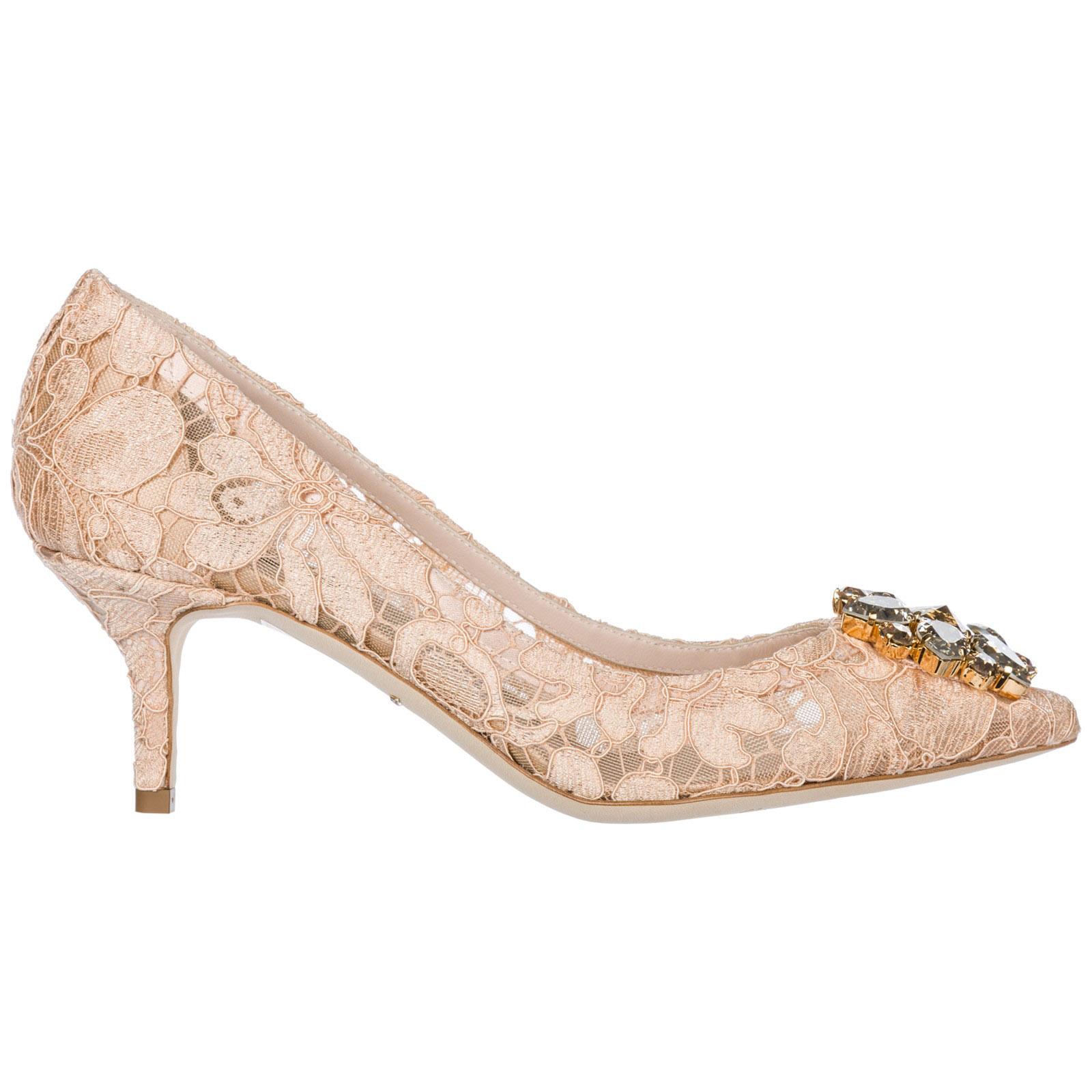 c4e69b686ed Escarpin Dolce Gabbana Bellucci CD0066AL19880240 rosa