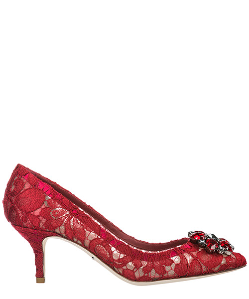 Pumps Dolce&Gabbana Rainbow Lace CD0066AL19880304 rosso