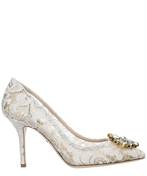 Zapatos de tacon Dolce&Gabbana Bellucci CD0101AL19880005 ghiaccio